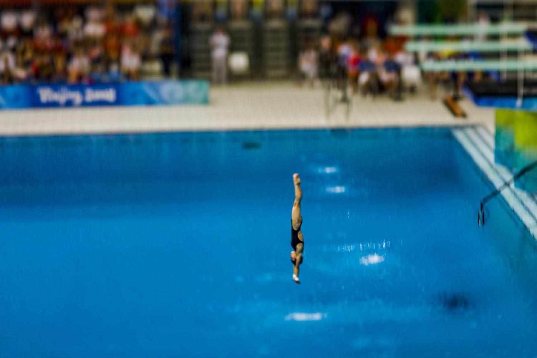 Platform diving, Beijing, August 2008