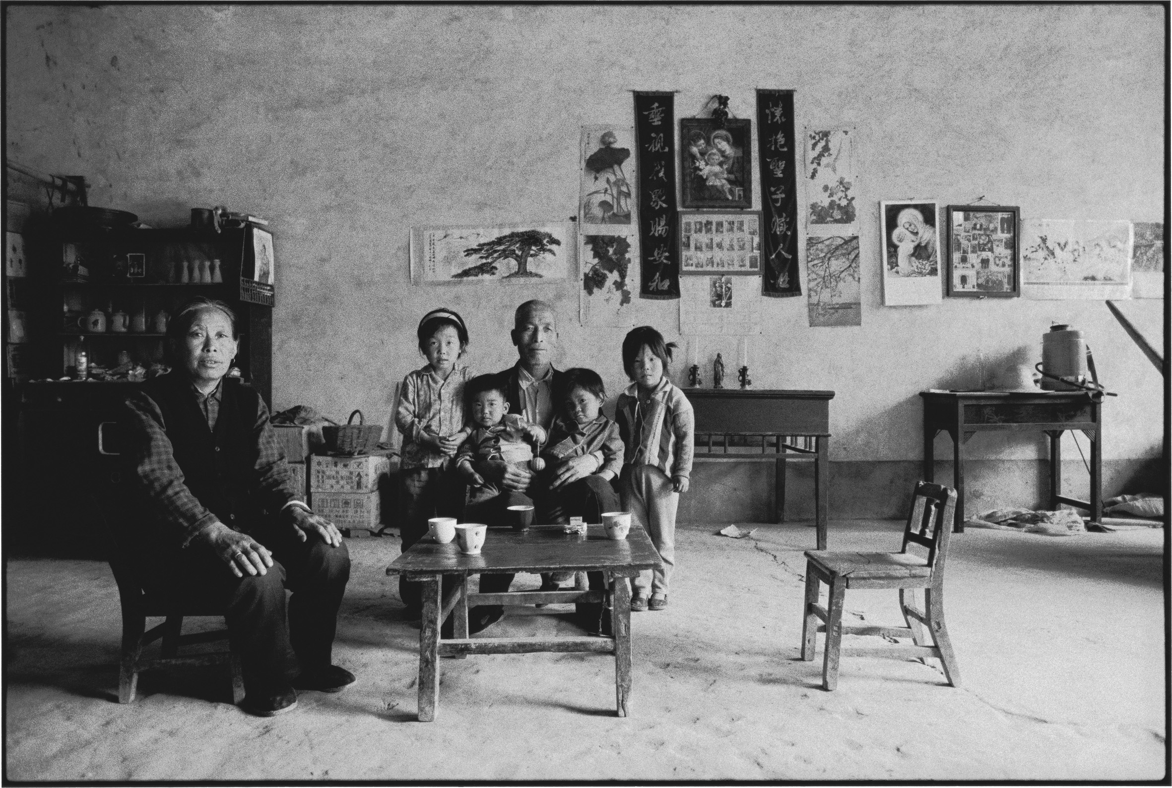 A Grandfather, Grandmother, and Their Grandchildren, Shaanxi, China