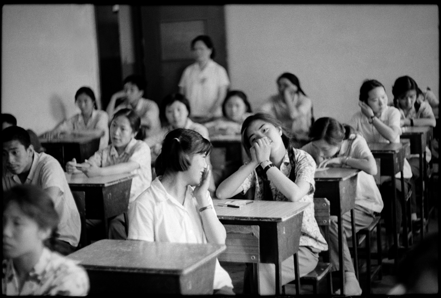 An Exam Room at Beijing High School No. 75 Middle School, July 8, 1980