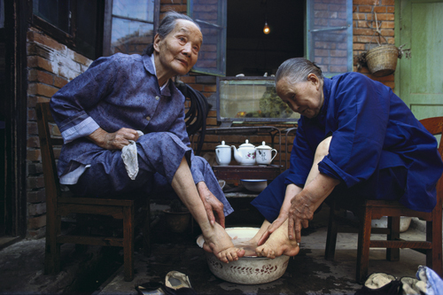 Two elderly women in Chengdu, Sichuan Province