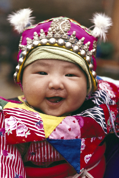 A Dong child, Guizhou Province