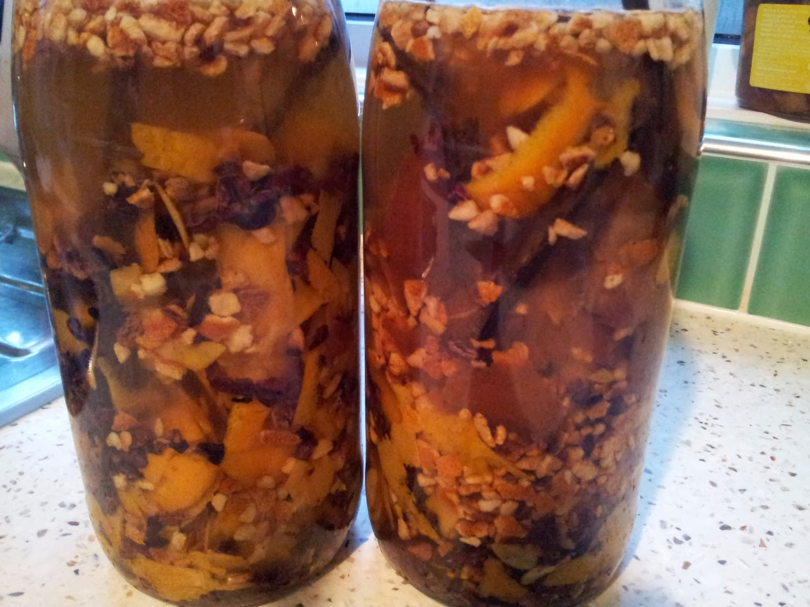 Mother's orange bitters macerating