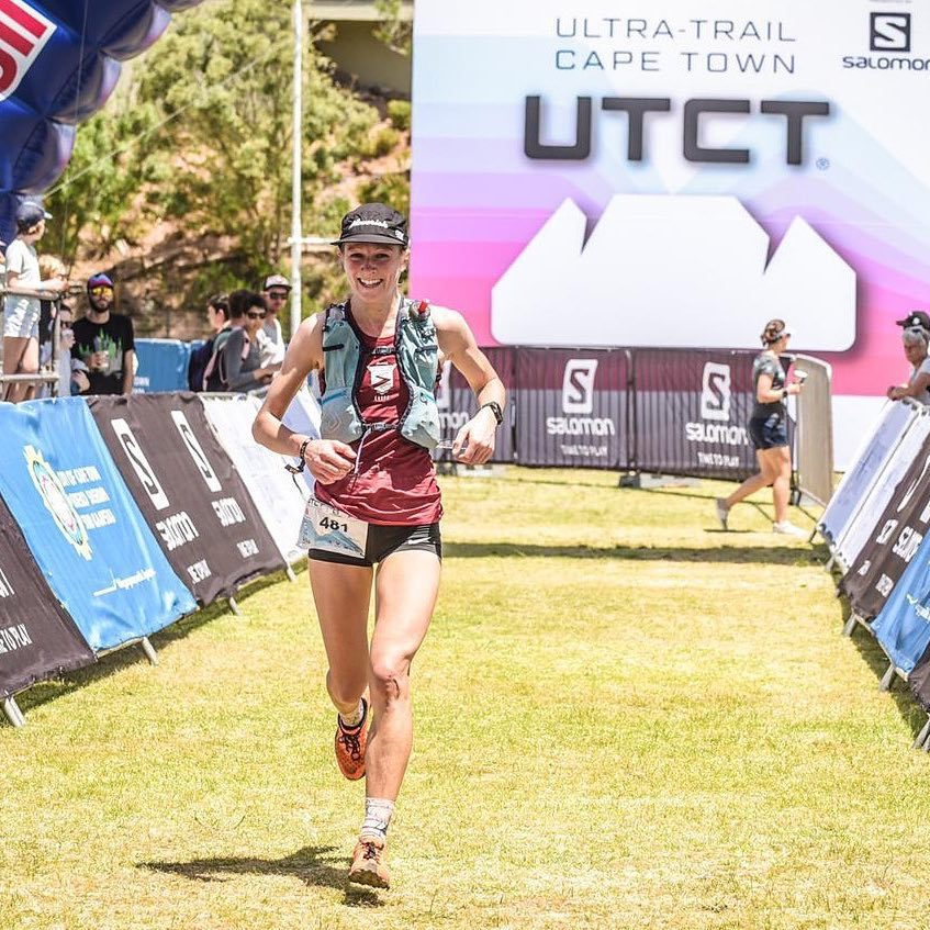 Julia 'The Jetpack' Davis - Crossing the finish line at the UTCT 2018