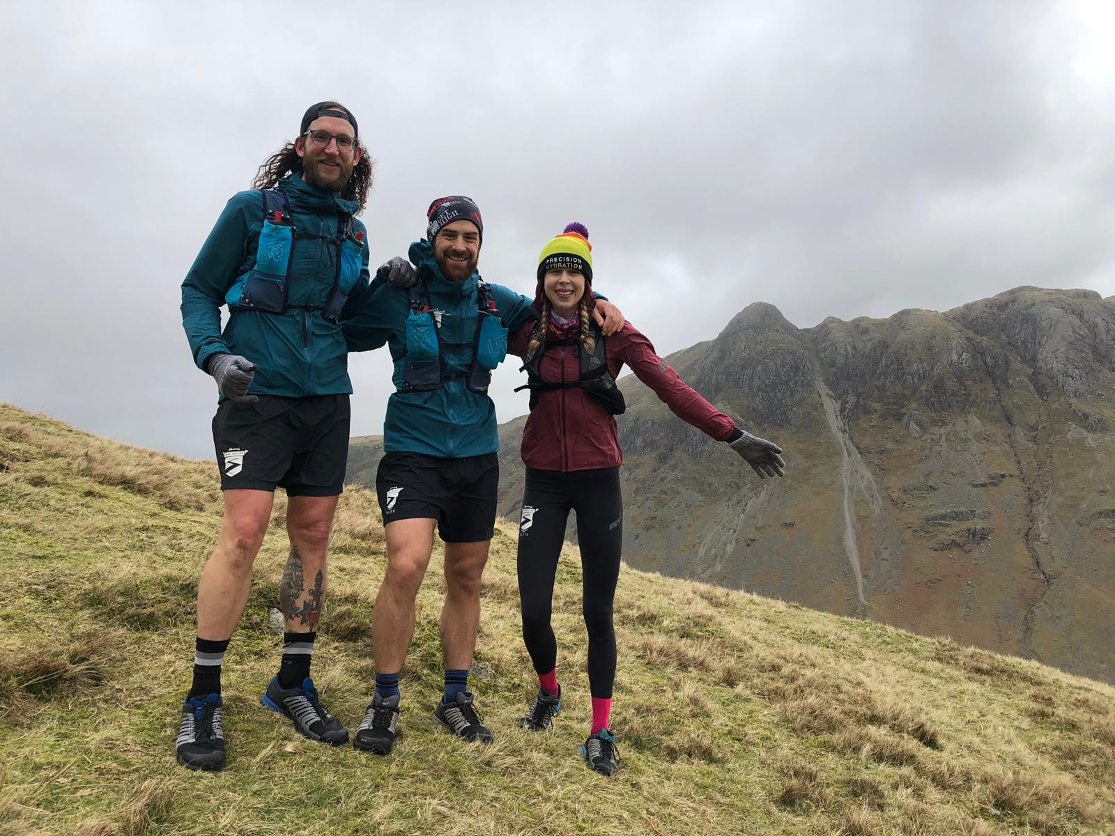 Spenny, Bajan and E up in the Lakes.