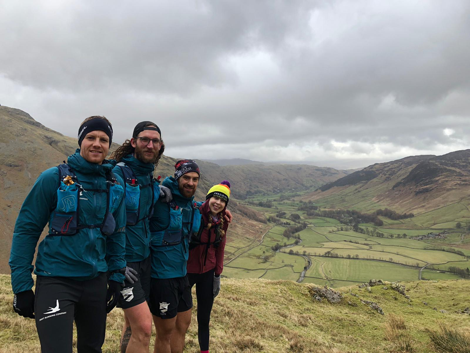 What a team. What a weekend. Ian (Swift Running Company), Spenny, Bajan and E all Maverick Trail Division