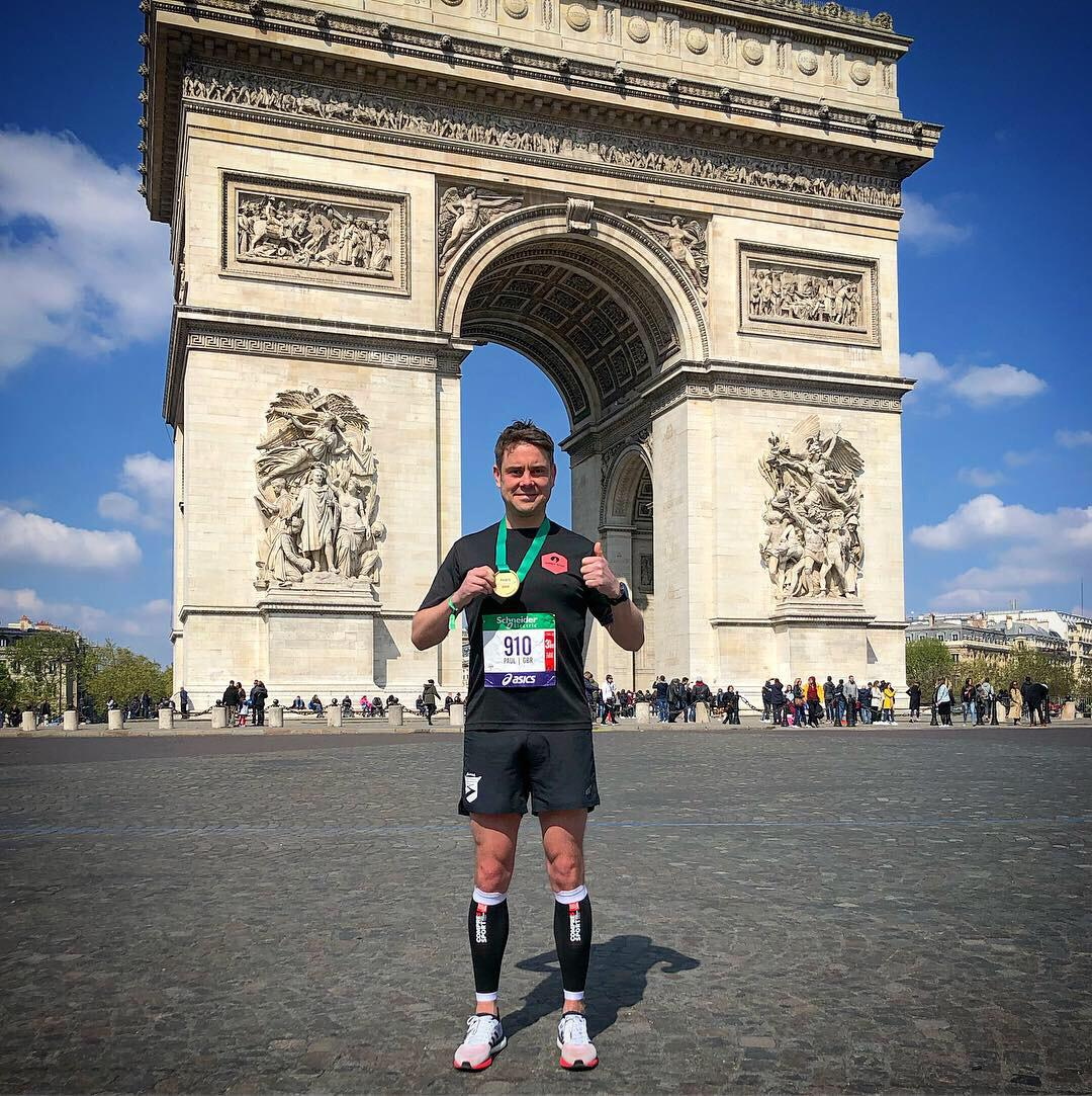 PC in Paris - PC ran both the London and Paris city marathons this year and smashed his PB along the way.