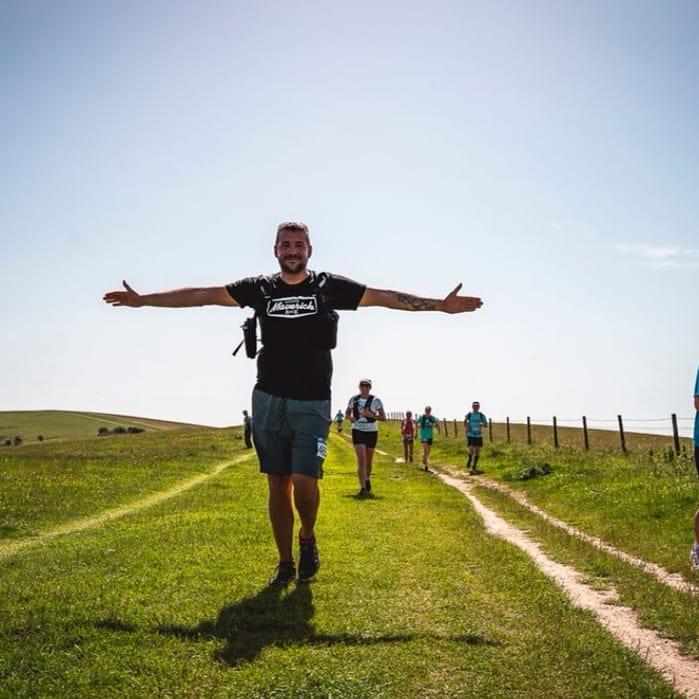 Chris Redtop running our Maverick Trails