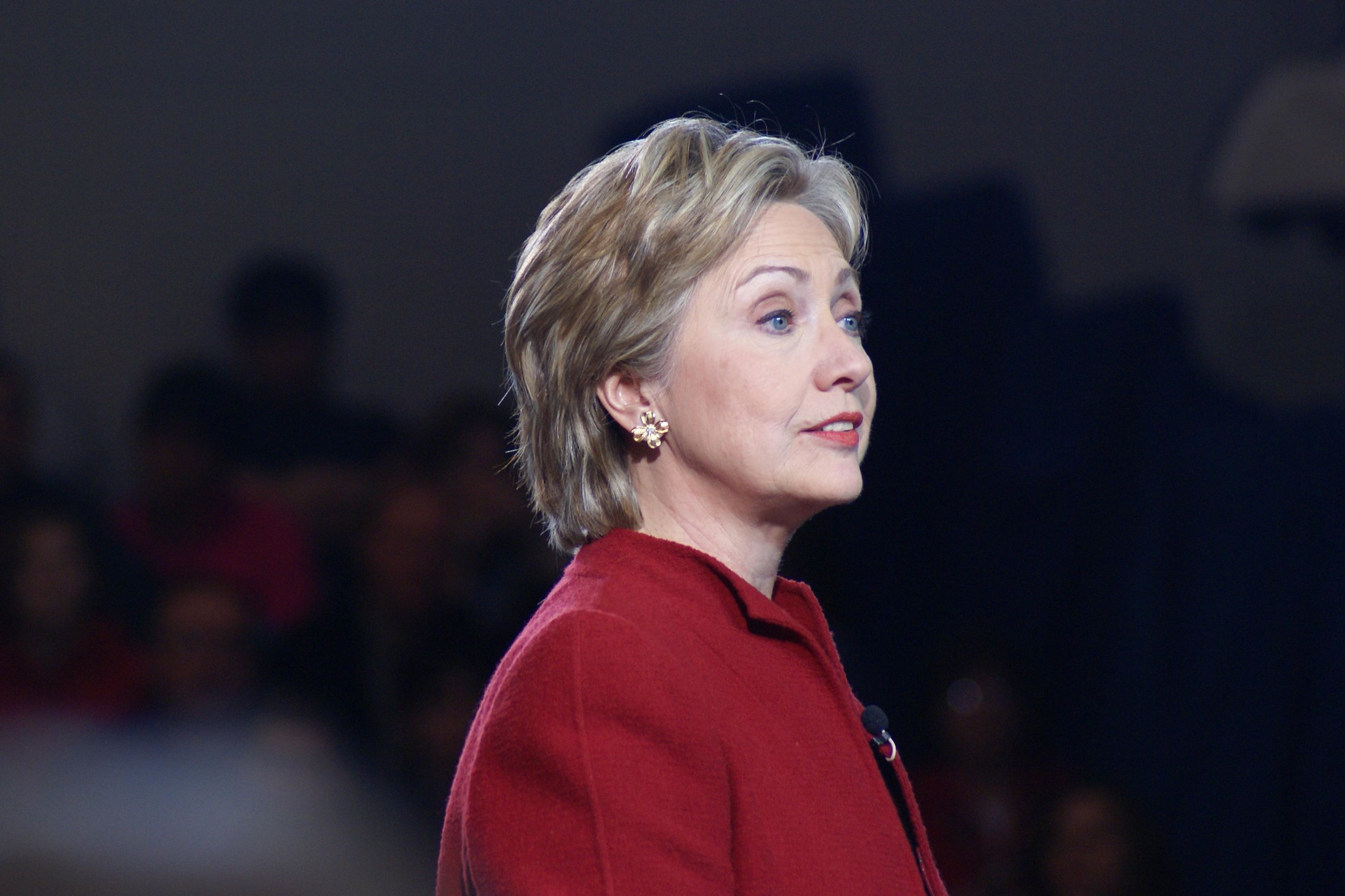 """""""Hillary Clinton in Hampton, NH"""" by   Marc Nozell  is licensed under  CC BY 2.0"""