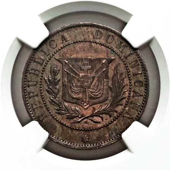 PATRON DE MONEDA 2 CENTAVO 1878. REPUBLICA DOMINICANA