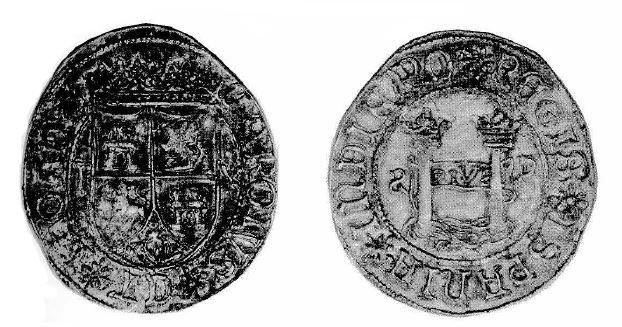 10 reales falsos de Santo Domingo