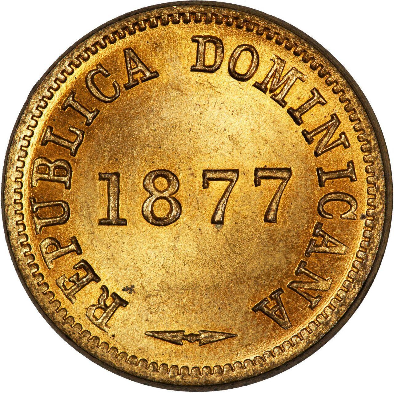 Un Centavo 1877. República Dominicana