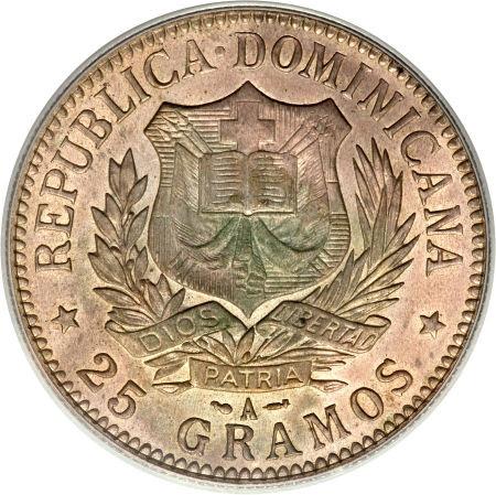 Un Peso 1897. República Dominicana