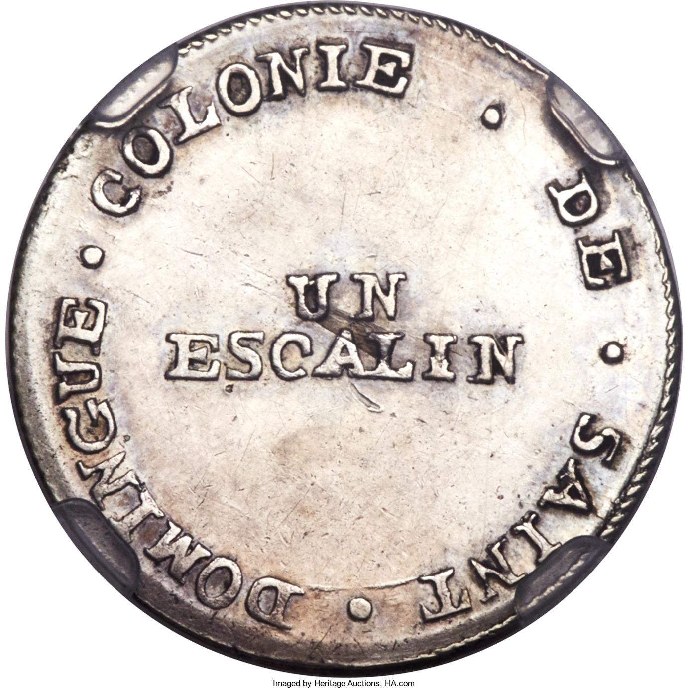 Colonia francesa de Saint domingue 1802. un escalin.