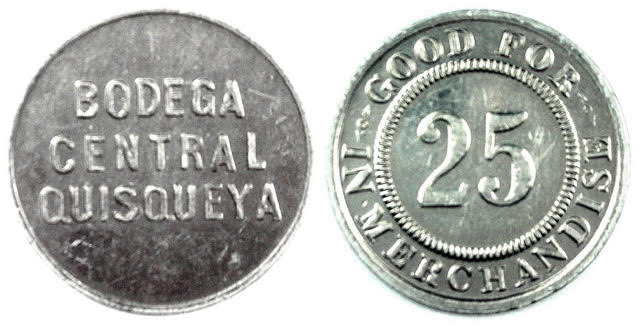 Ficha (Token) Bodega Central Quiqueya. Republica Dominicana