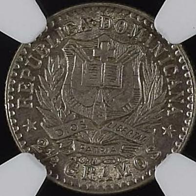 10 centavos 1897. República Dominicana