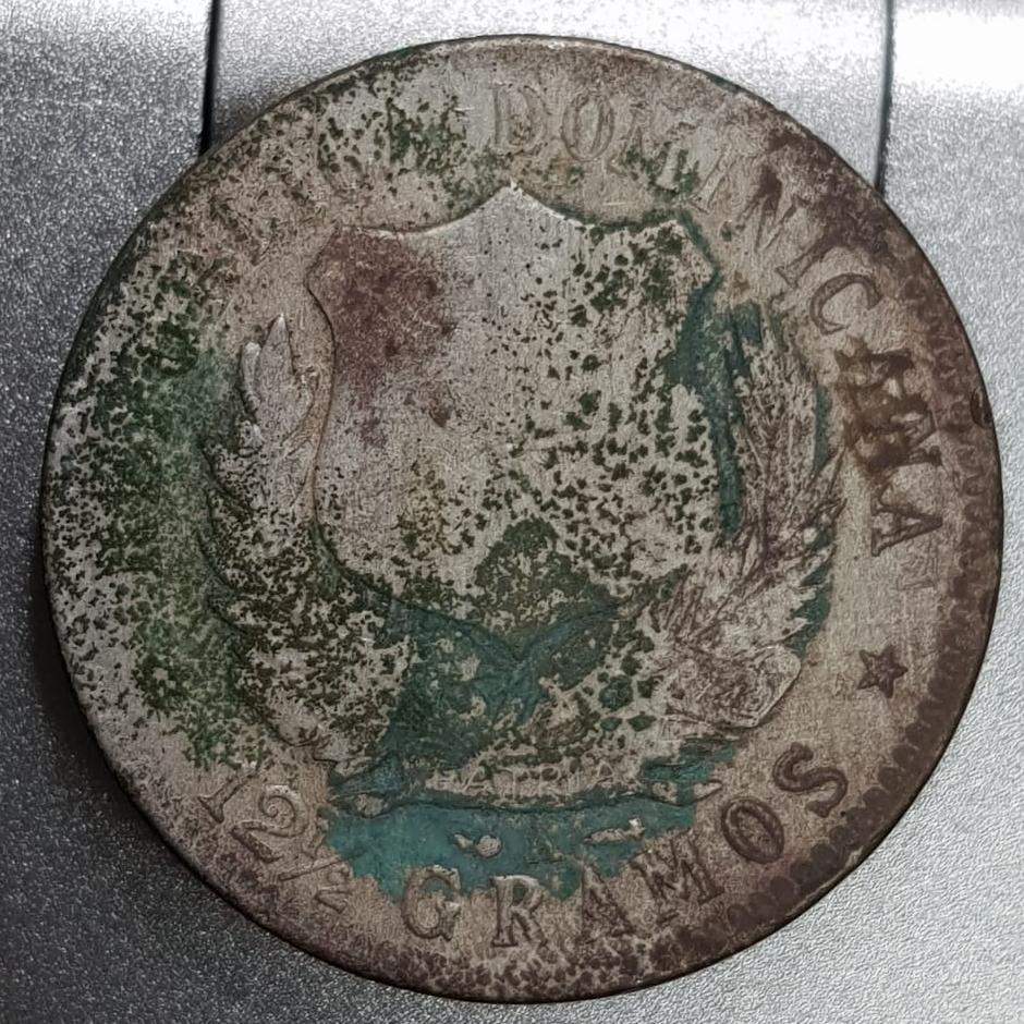 Contramarca Recuerdo sobre peso dominicano 1897