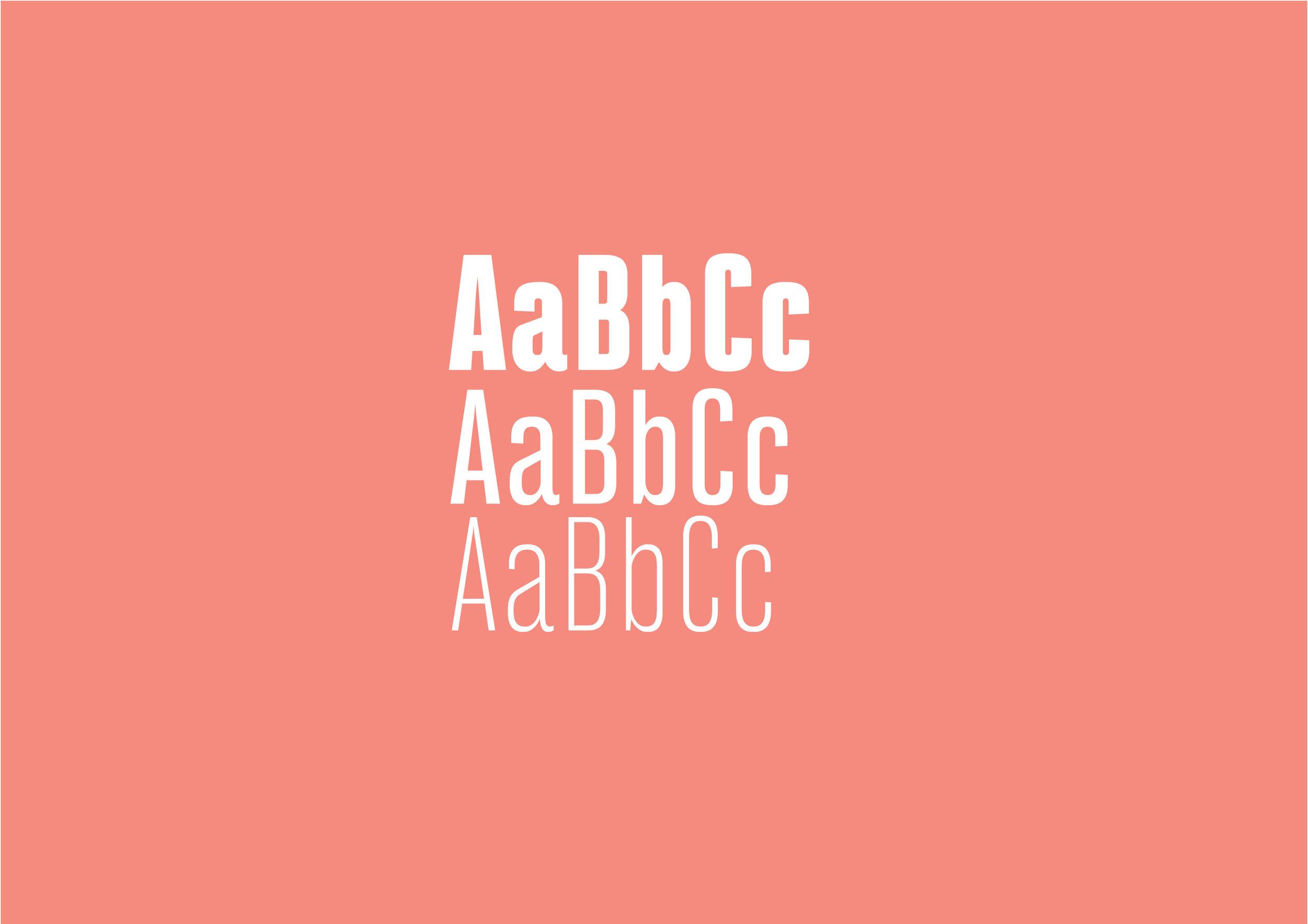 Typography display —  BW stretch