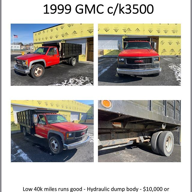 For sale one of our we'll serviced dump trucks. #forsale #dumptruck #chevy3500 #chevyHD3500