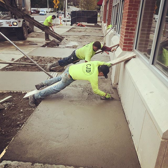 Laying down on the job. #tricksofthetrade #concrete #sitework #mason #excavation #storefronts #commercialconstruction #builder #architecture #modernarchitecture #design