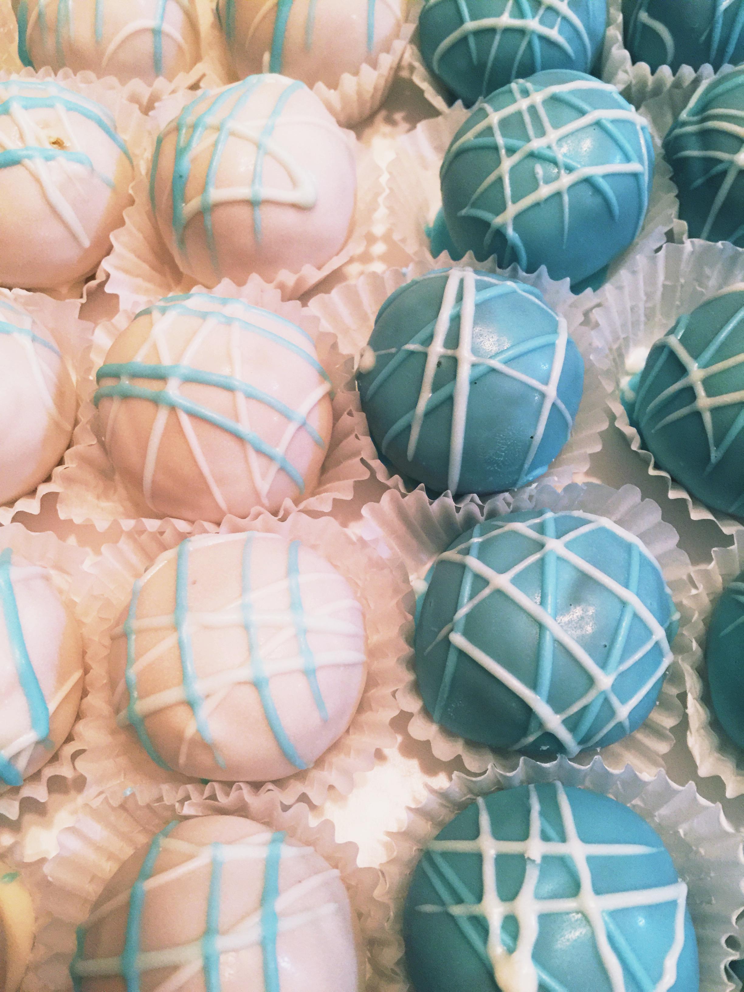 Cincinnati Baby Shower Cake Balls