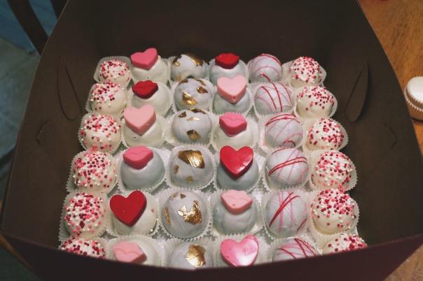 Cincinnati Valentine's Day Cake Balls