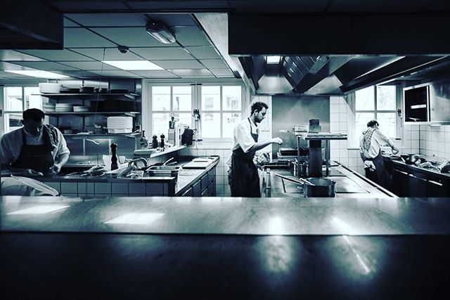 Keep calm and start cookin'. #work #peopleatwork #cook  #restaurant  #kitchen #kitchenlife  #food  #blackandwhitetheme #blackandwhite  #michelinstars #michelin #cuisine  #foodie  #cooking  #gourmet  #cheflife #workplace