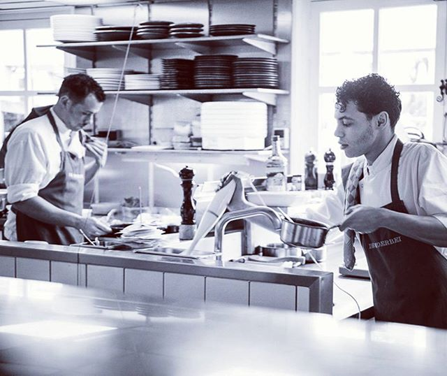 """It's a beautiful thing when passion and career come together."" #work #peopleatwork #cook  #restaurant  #kitchen #kitchenlife  #food  #blackandwhitetheme #blackandwhite  #michelinstars #michelin #cuisine  #foodie  #cooking  #gourmet  #cheflife"