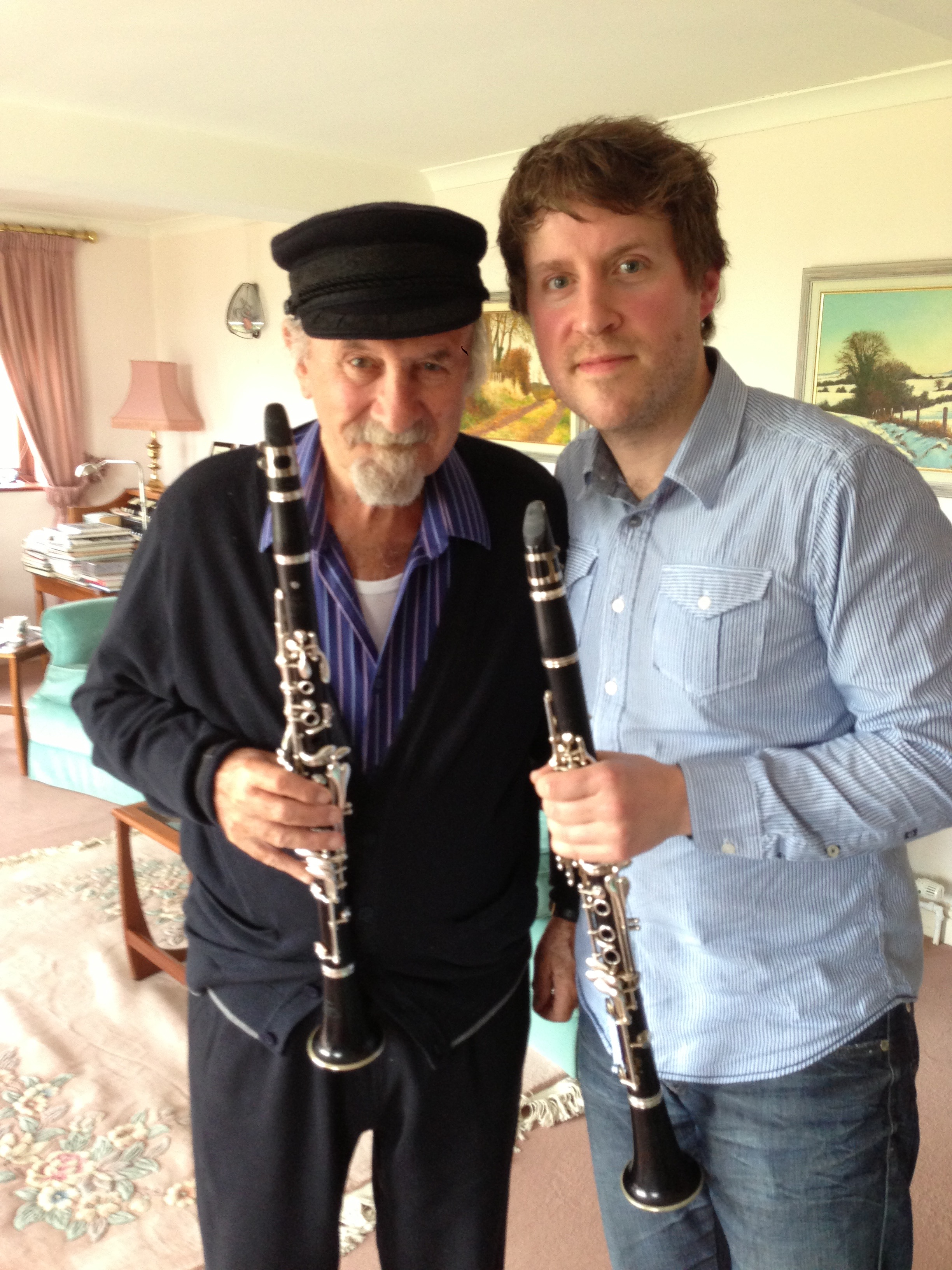 Duetting with Acker Bilk for The Tombola Theory