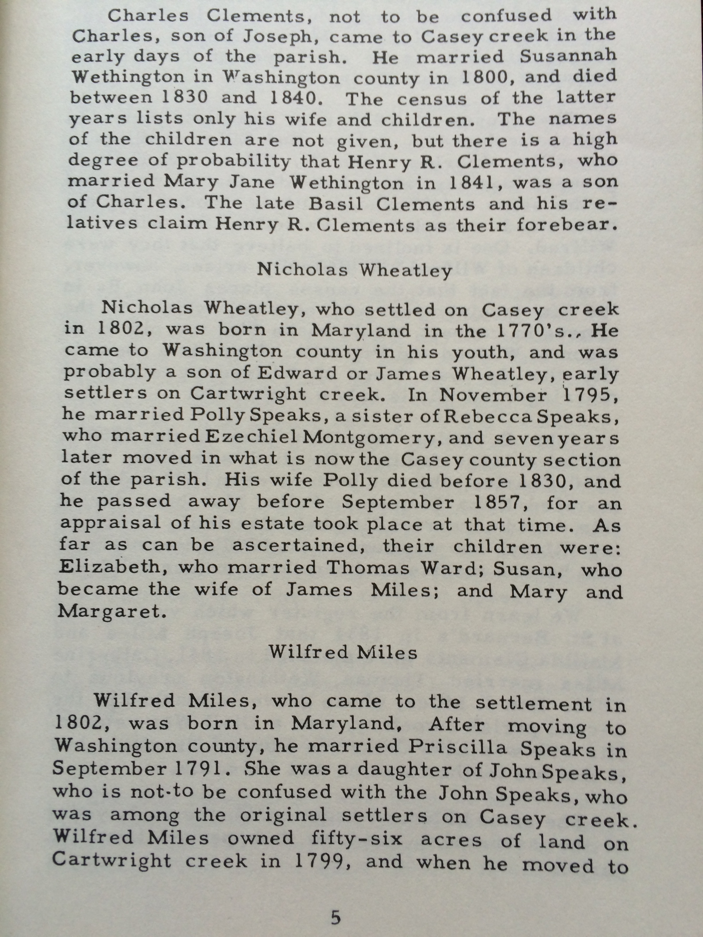 """""""Historical Sketches"""" by John A. Lyons (page 5)"""