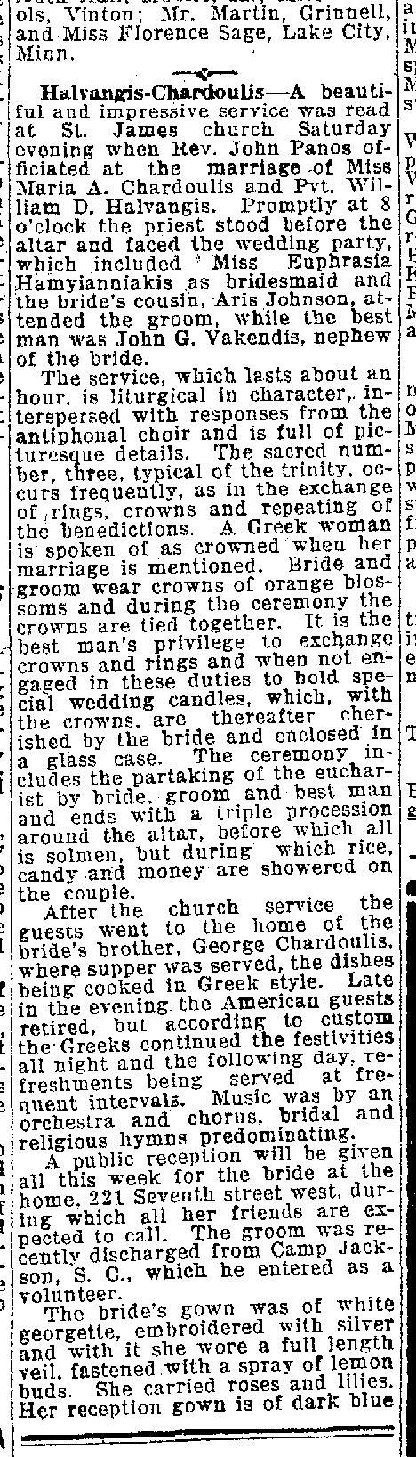 Halvangis Chardoulias wedding