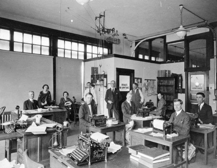 Waterloo Evening Courier reporting staff, circa 1920  Courtesy of  The Courier