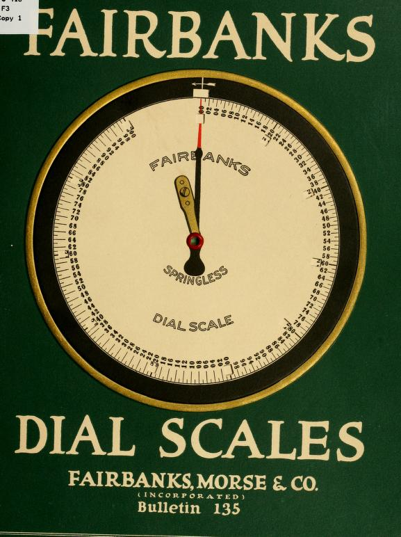 Fairbanks Dial Scales Catalog, 1919