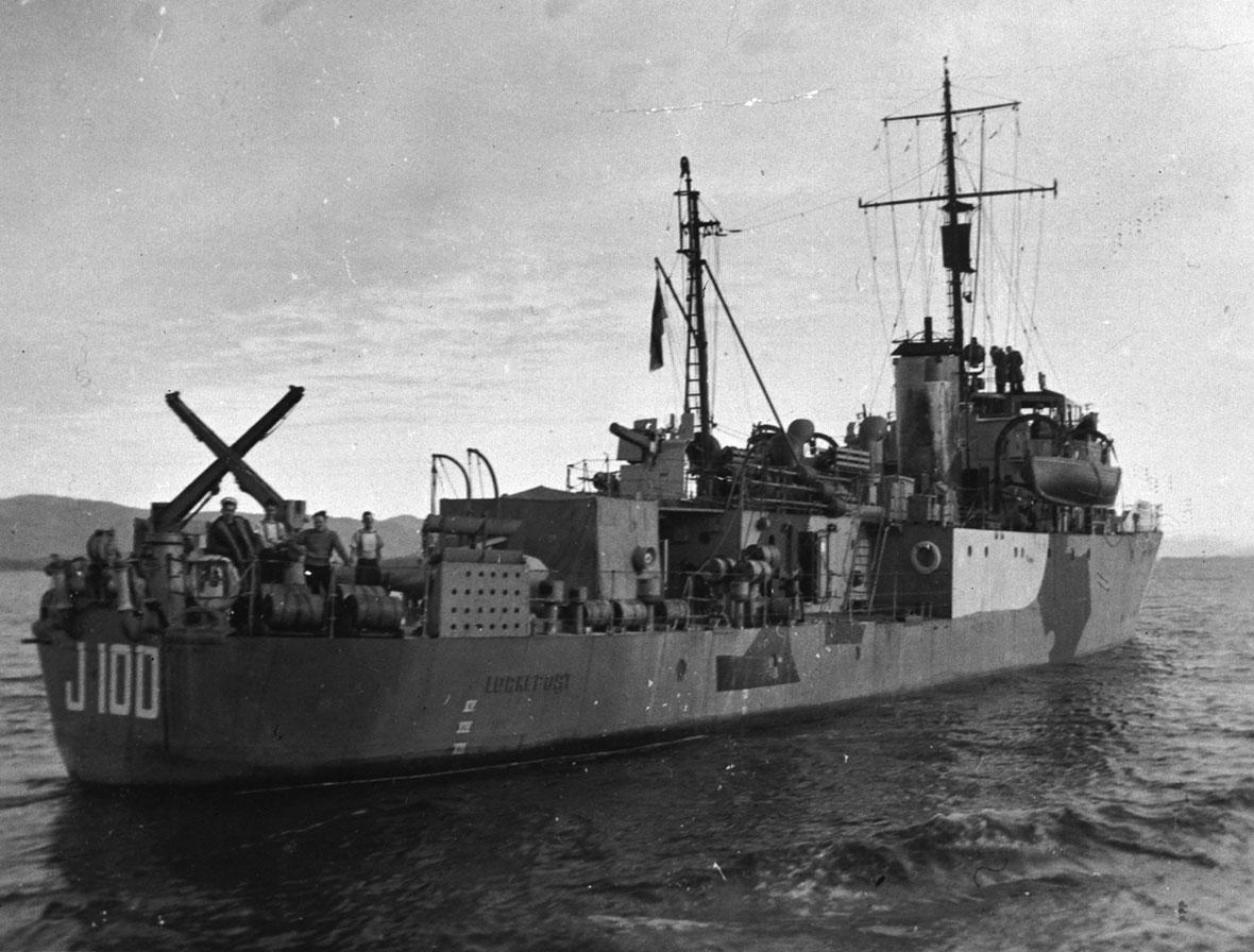 HMCS Lockeport J100 photo courtesy of The Royal Canadian Navy