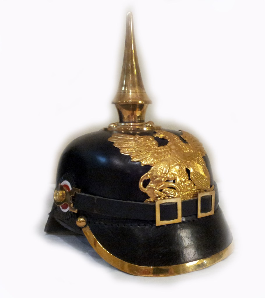A reproduction officer's helmet, circa 1914. (Image source:   MilitaryHistoryNow.com  )