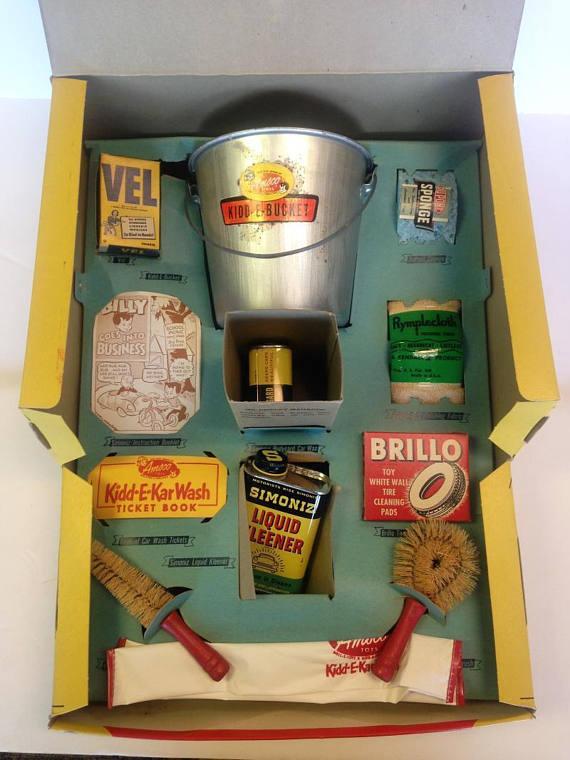 Vintage Amsco Kidd-E-KarWash Set