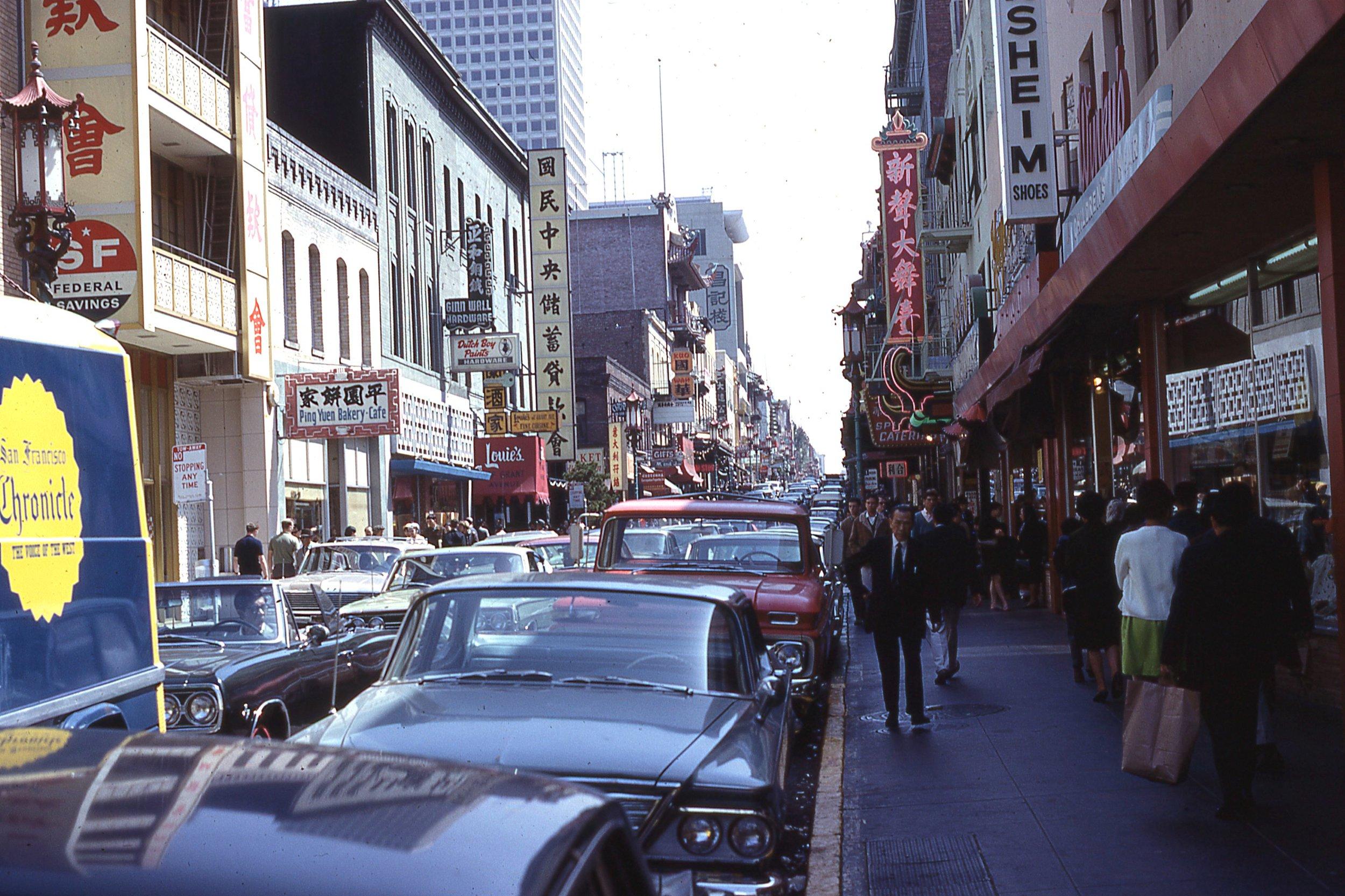 Grant Avenue in San Francisco's Chinatown, around 1969
