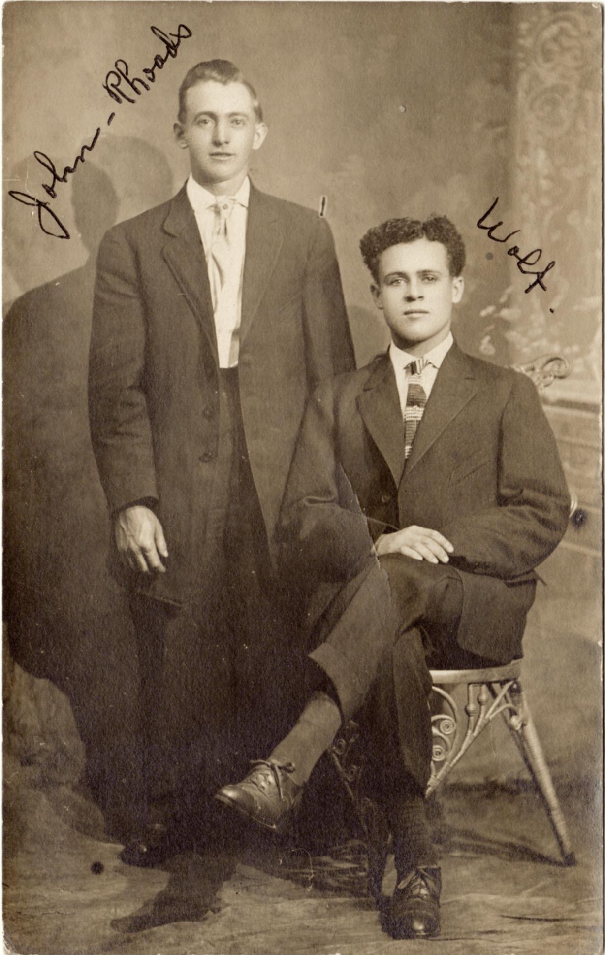 John Rhoads and Mr. Wolf