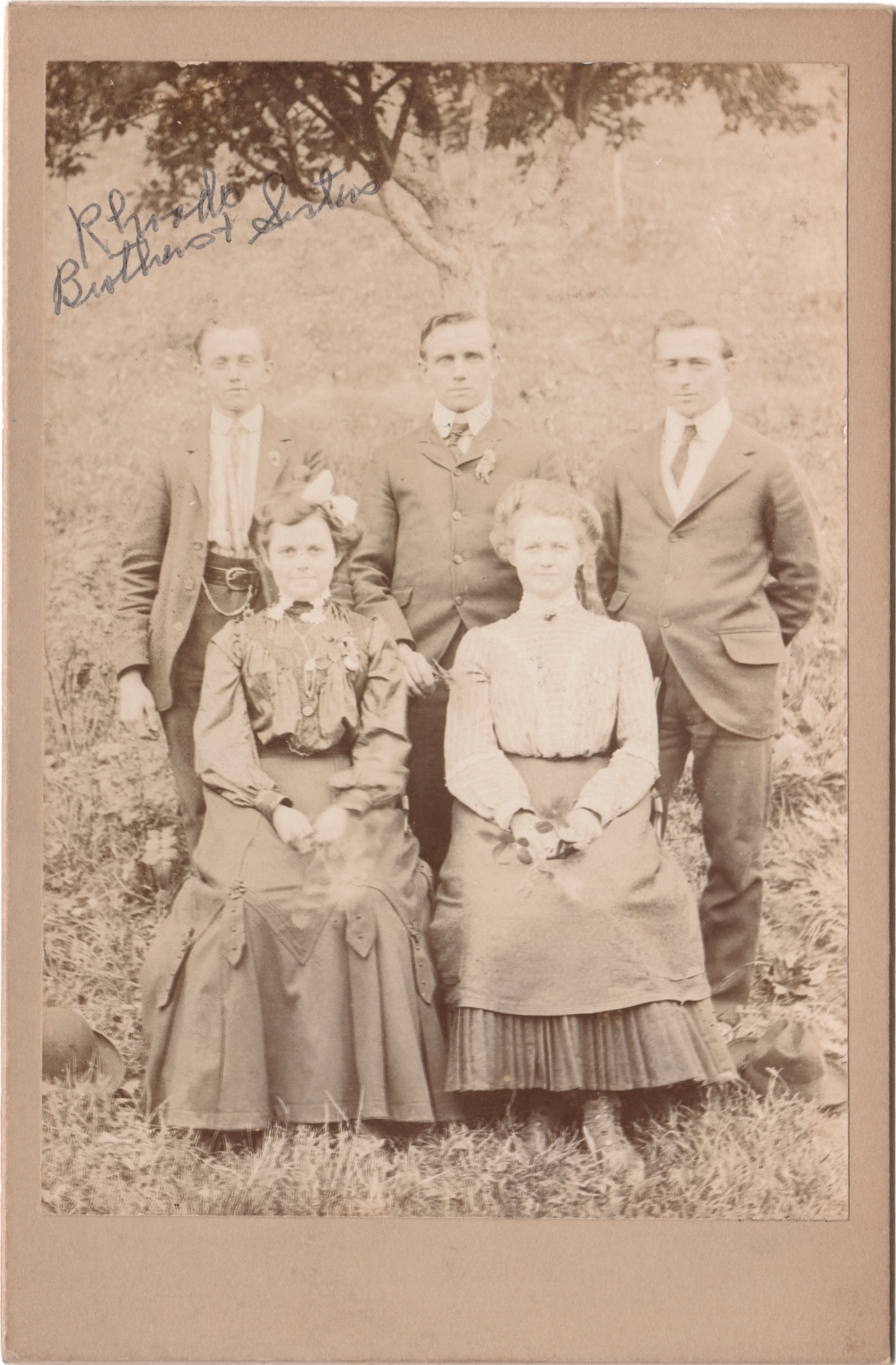 """Rhoads Brothers and Sisters"" about 1905"