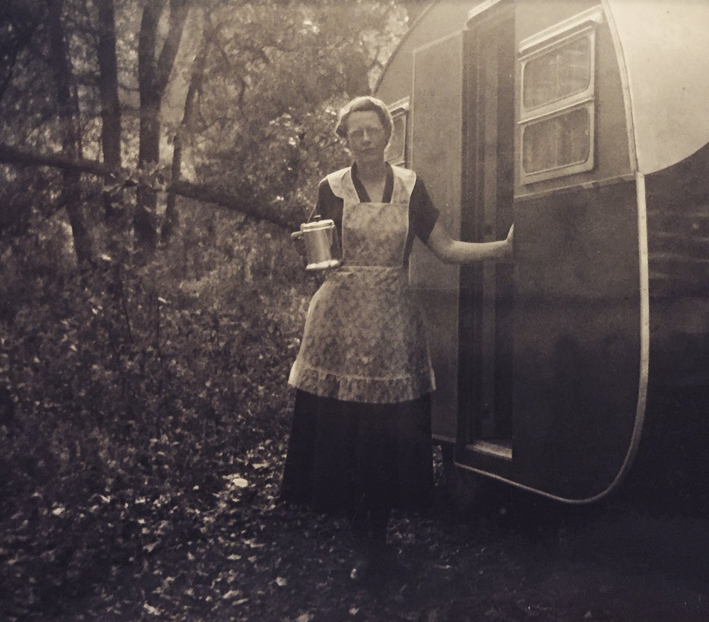 "Ruth (Hanson) Steadman (1903-1980) - ""Camping Grandma""  Late 1940s or Early 1950s"