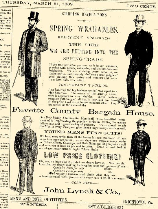 March 21, 1889 Uniontown Evening Standard