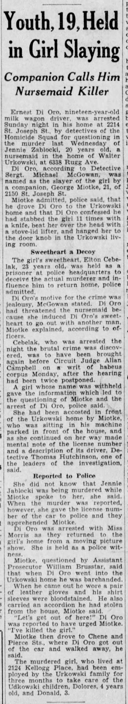 Detroit Free Press 12/11/1933