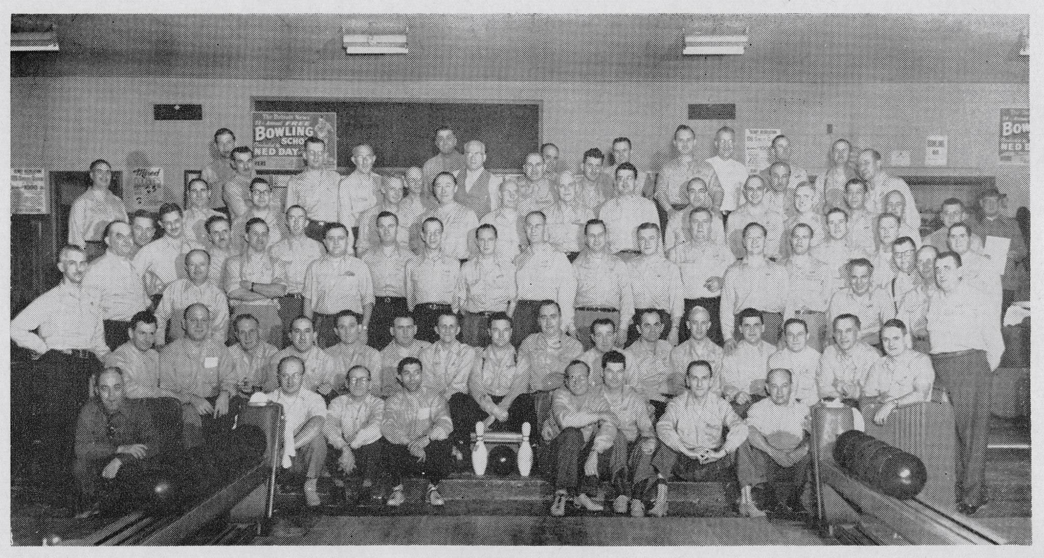 "Photo labeled: ""Guardian Angels Bowling Team at Denby Lanes, Detroit""  source:   Find a Grave, Thomas LaFaive"