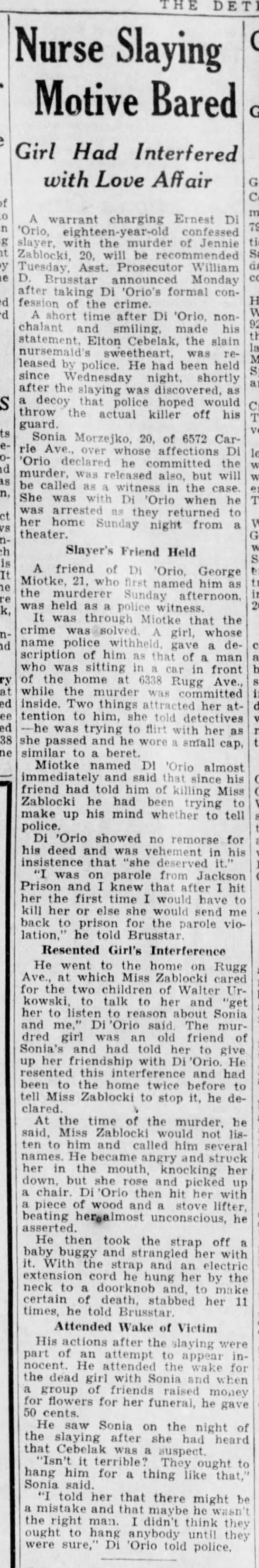 Detroit Free Press 12/12/1933