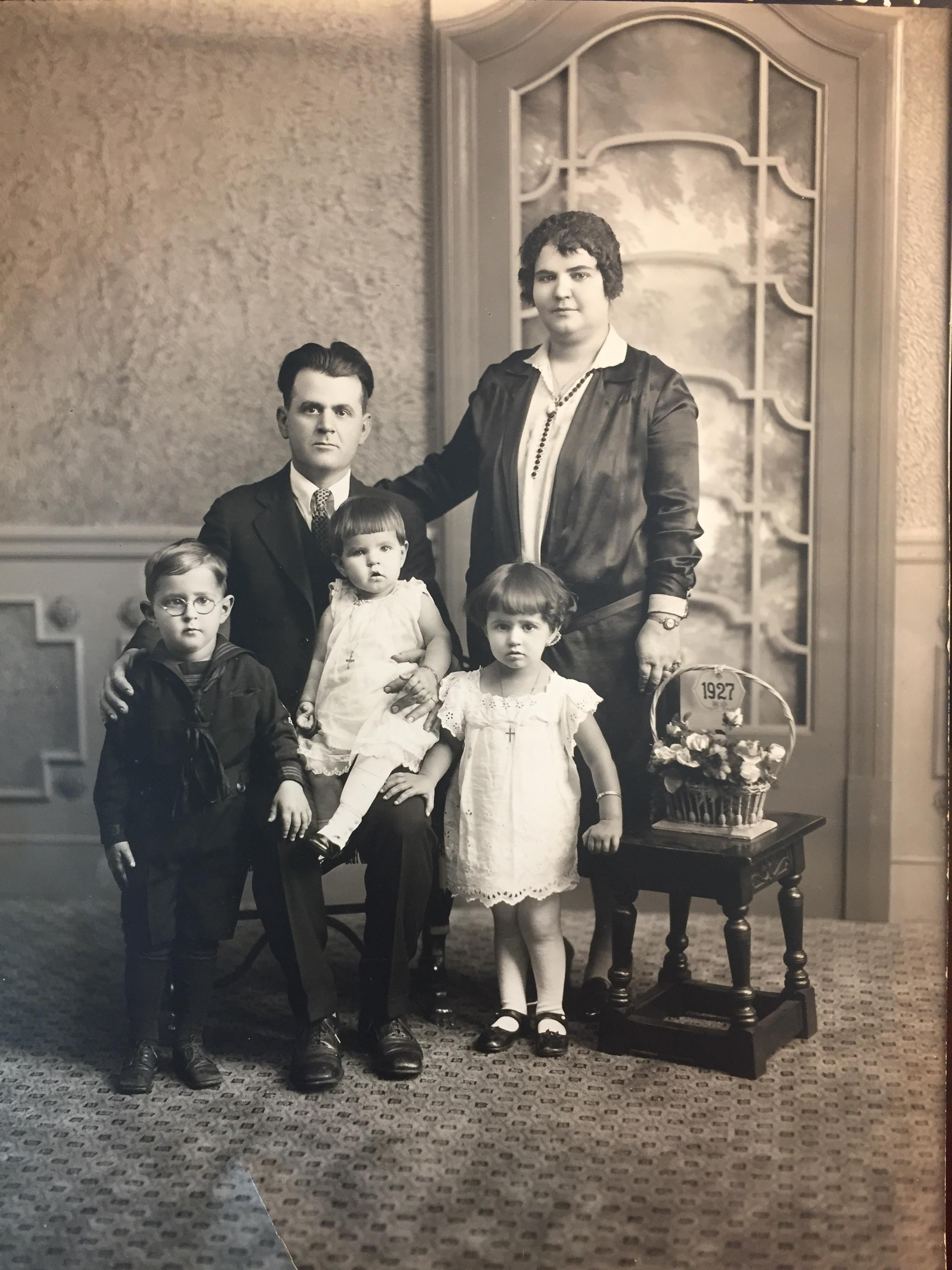 "Gregorio ""Greg"" Elissaviti, his wife Theodora, and their children"