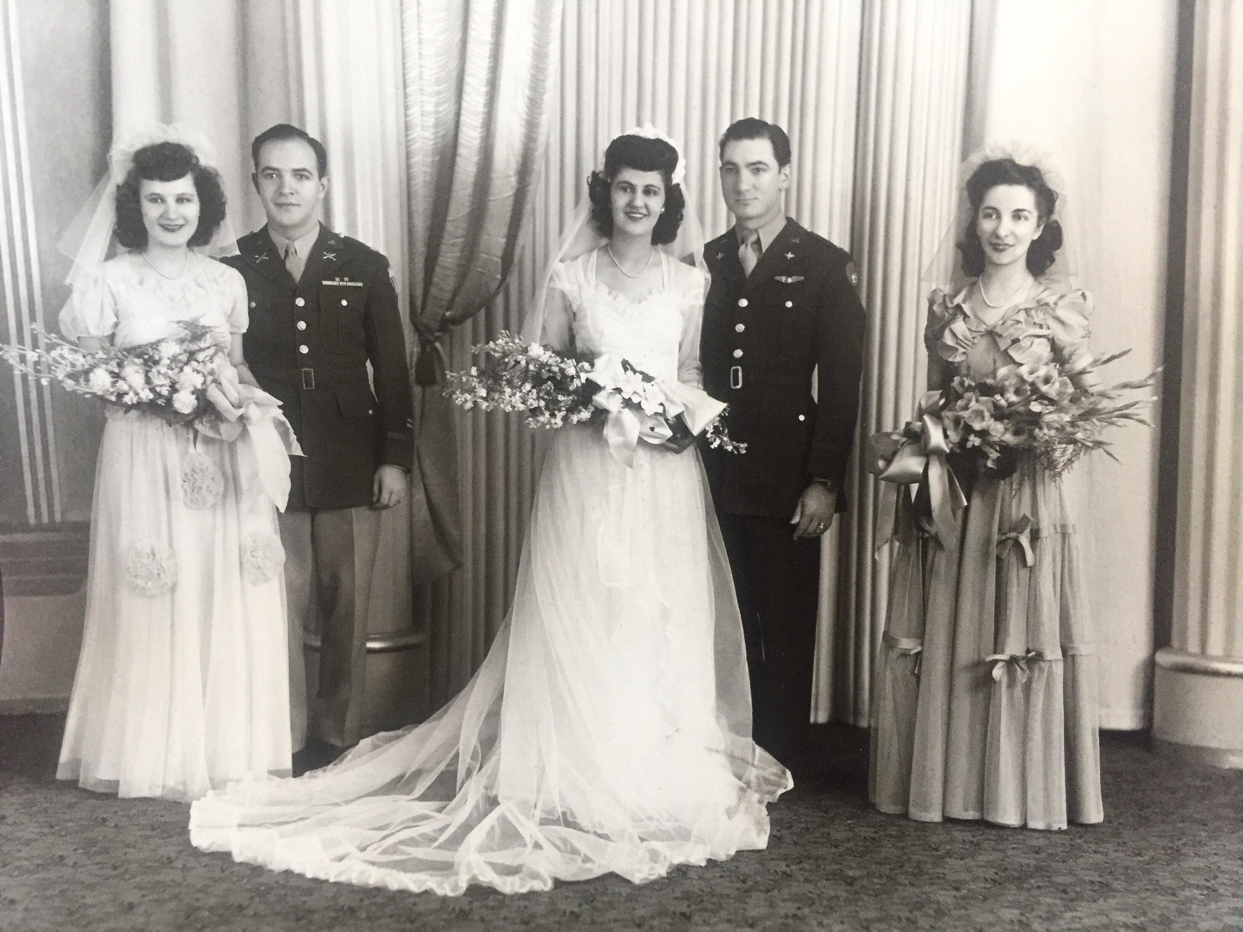 Wedding photo of Grace Elissavitis and Nicholas T. Mitchell - 1948