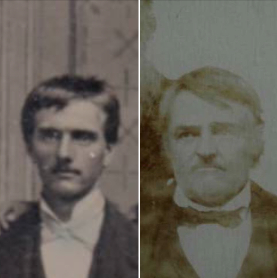 Is the man on the left a younger version of the man on the right, James Costlow?