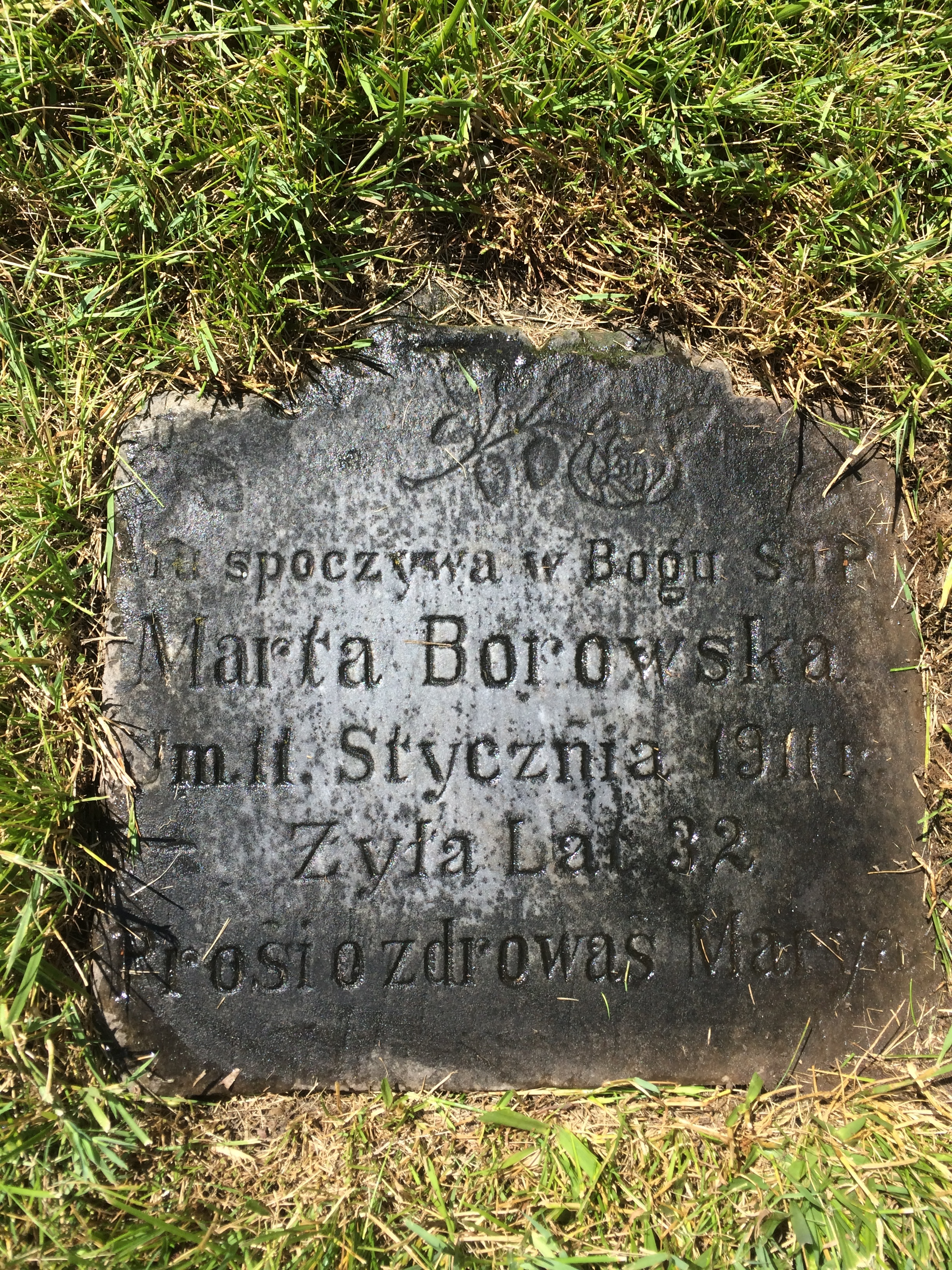 Martha Pawlowski Borowska (1880-1911) Mt. Olivet Cemetery - Detroit, MI