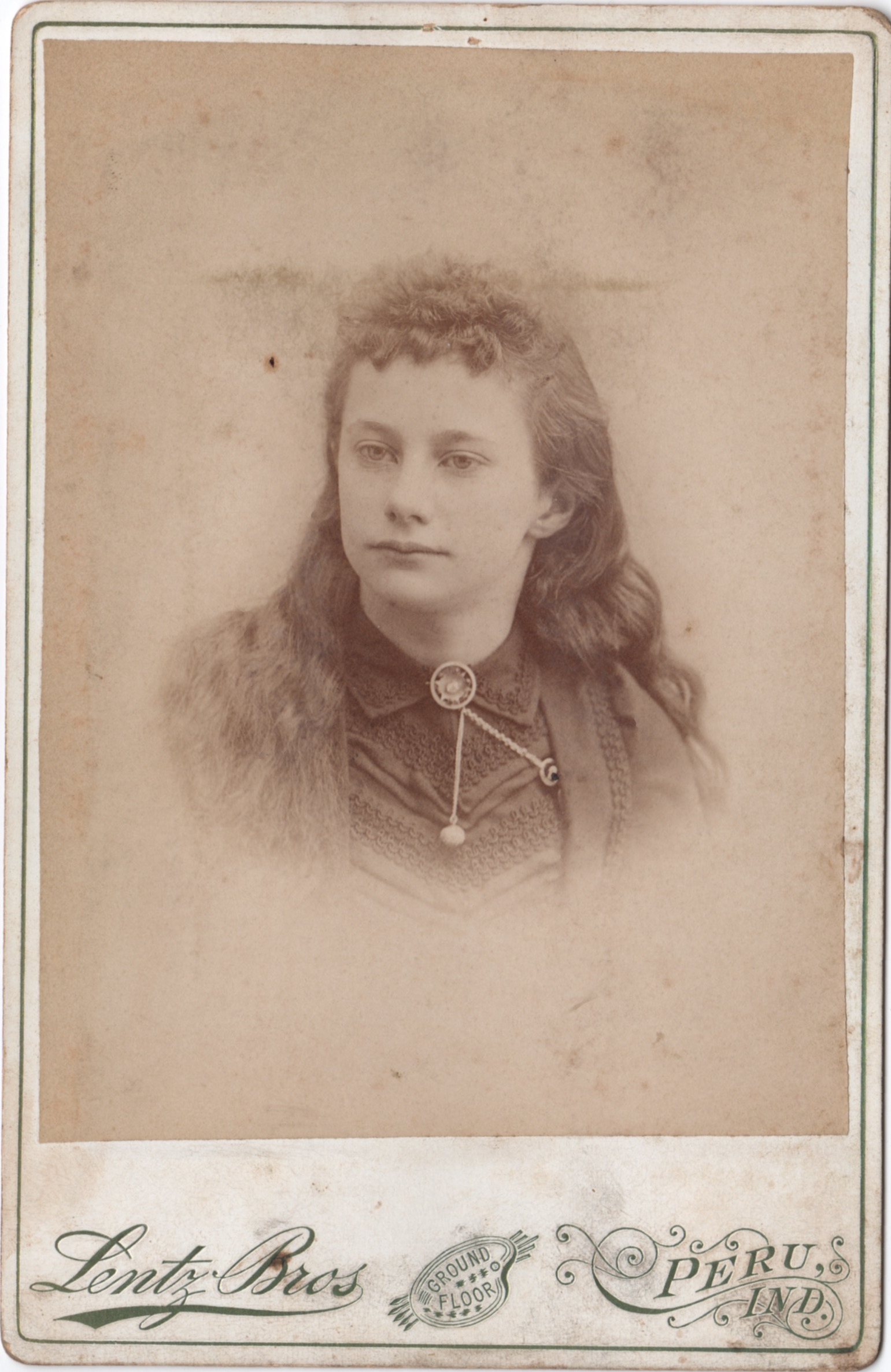 Unidentified woman from the same photo album as Peter Costlow and Matilda Topper Costlow