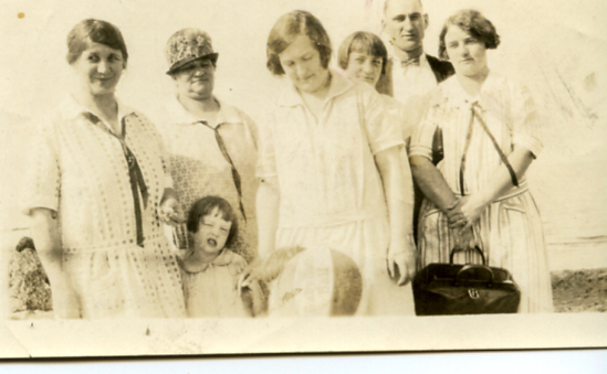 Lydia (left) with her sister, nieces, and grandniece