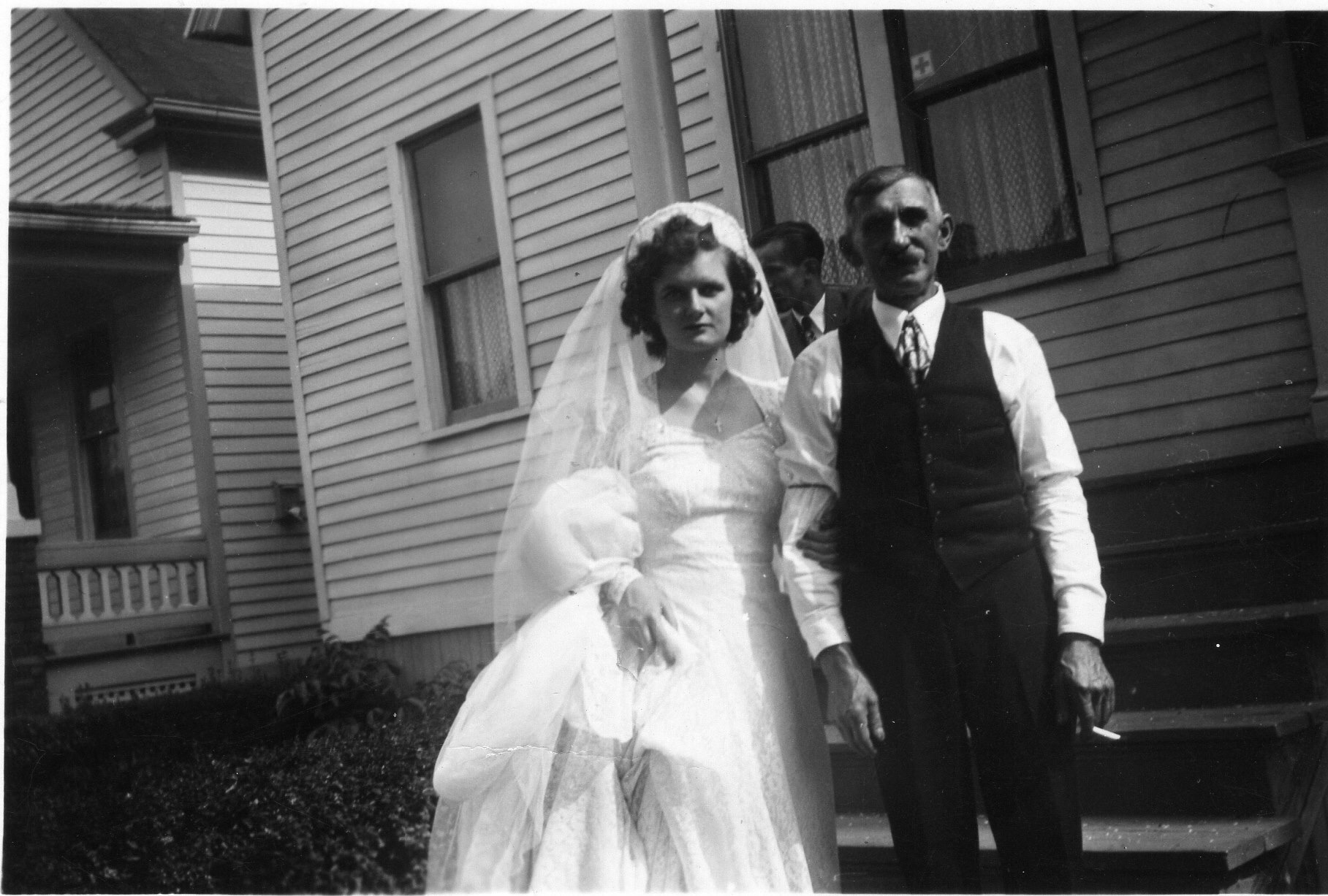 Frances Agacinski Berchulc (1925-2004) One Wedding Day with Adam (her uncle)